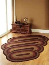 """Primitive Country Berkshire Braided Oval Rug in Burgundy  27""""x72"""" $66"""
