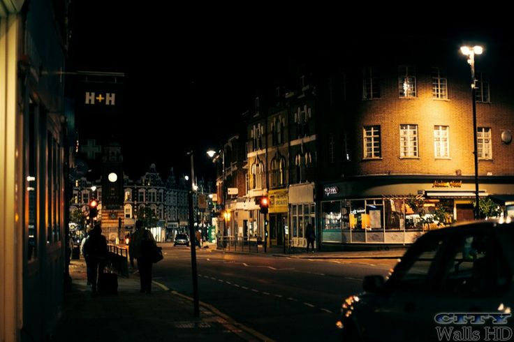 Wallpaper mit dem Bild von den nächtlichen Straßen in London