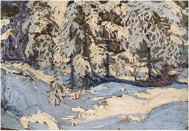 Tom Thomson Catalogue Raisonné | Snow in the Woods, Fall 1916 (1916.173) | Catalogue entry