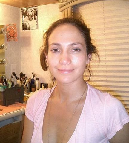 Jennifer Lopez before, anybody can look flawless with the right make up artist.