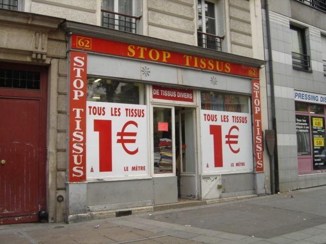 ) Stop Tissus 75 - Paris 20ème 62 bd Belleville - Métro Couronnes (2) 01 46 36 23 01