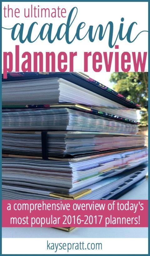 Academic Planner Review - KaysePratt.com Pinterest