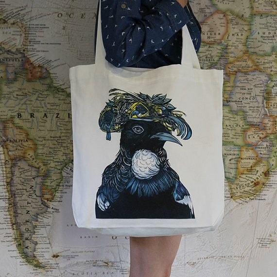 Tui Canvas Tote Bag by ReneeChin on Etsy