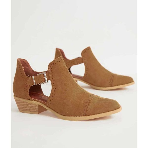 Qupid Sochi Ankle Boot - Women's Shoes in Camel