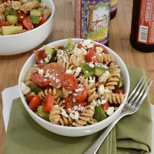 Greek Pasta Salad {Sweet Pea's KItchen}Delicious Pasta, Salad Sweets, Peas Kitchens, Greek Salads Mail, Pastasalade, Rotisserie Chicken, Food Blog, Sweets Peas, Sweet Peas
