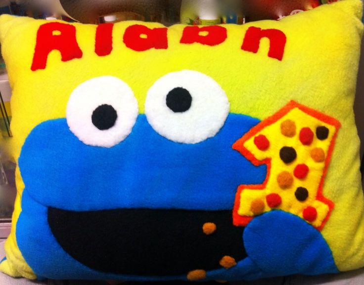 Cojín de Elmo nombre Alaan!