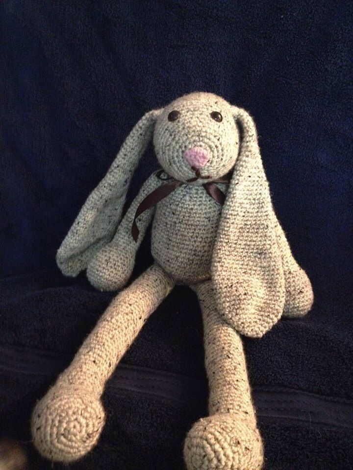 Cool Vintage Looking crocheted bunny