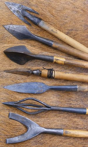 A selection of arrow heads used by Roman Auxiliaries. These reproductions are from the collection of Ian 'Spike' Martin of the Britannia Re-enactment Group.