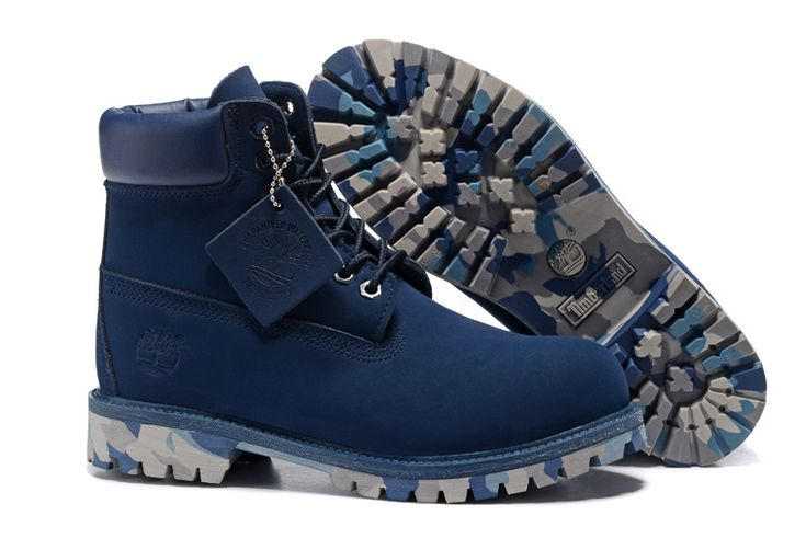 Timberland Authentic 6 inch Premium Waterproof 10061 Boot-Navy Camouflage For Kids Special Price:$75.99