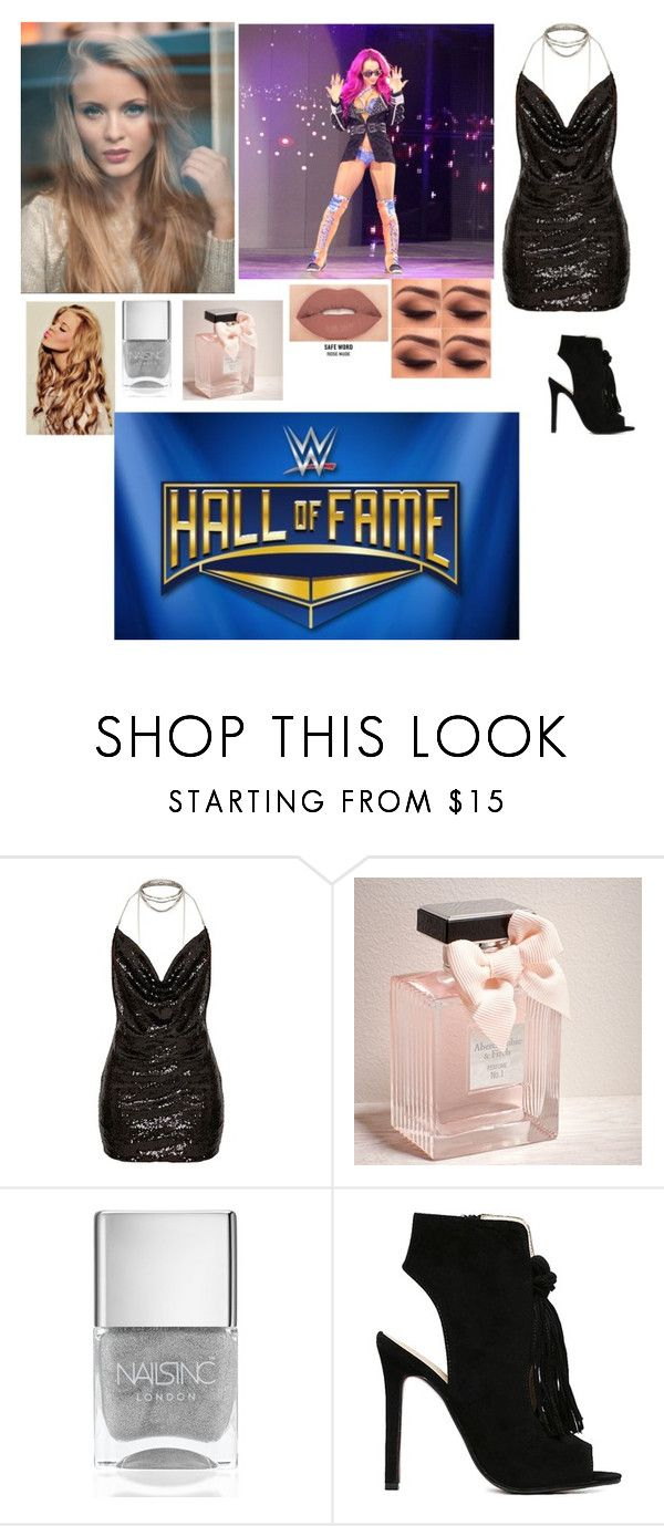 """Zara-Hall Of Fame with Sasha"" by thefuturemrsambrose ❤ liked on Polyvore featuring Smashbox, Abercrombie & Fitch, Nails Inc. and WWE"