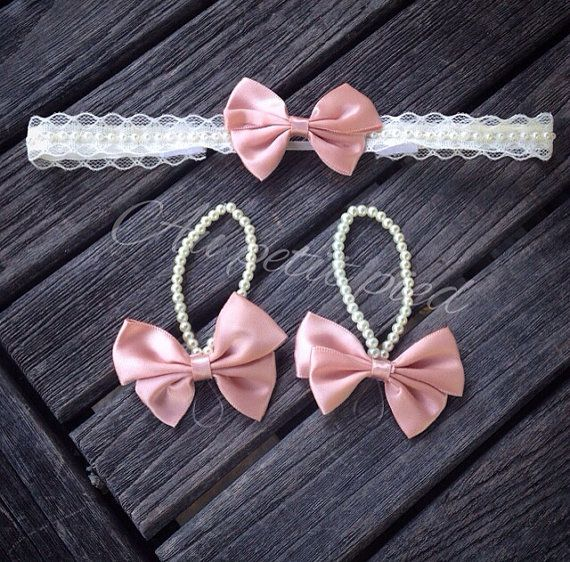 Baby barefoot sandals and headband set, hair bow, baby girl gift, baby shower , baptism, christening, first birthday ,photo prop on Etsy, $29.99