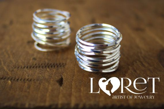 Spectacular Multiple Sterling Silver Rings Forming by LoretJewelry