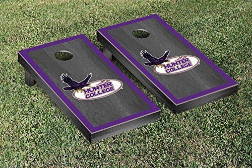 Hunter College Hawks Cornhole Game Set Onyx Stained Border Version >>> Continue to the product at the image link.
