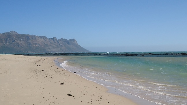 Beach of Strand, near Somerset-West, South Africa.