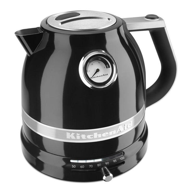black kitchen aid electric teapot w temp control