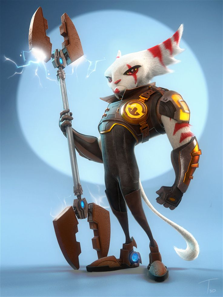 One of the characters I built as practice from concept art I found online I really like the Ratchet and Clank series character and overall art style.