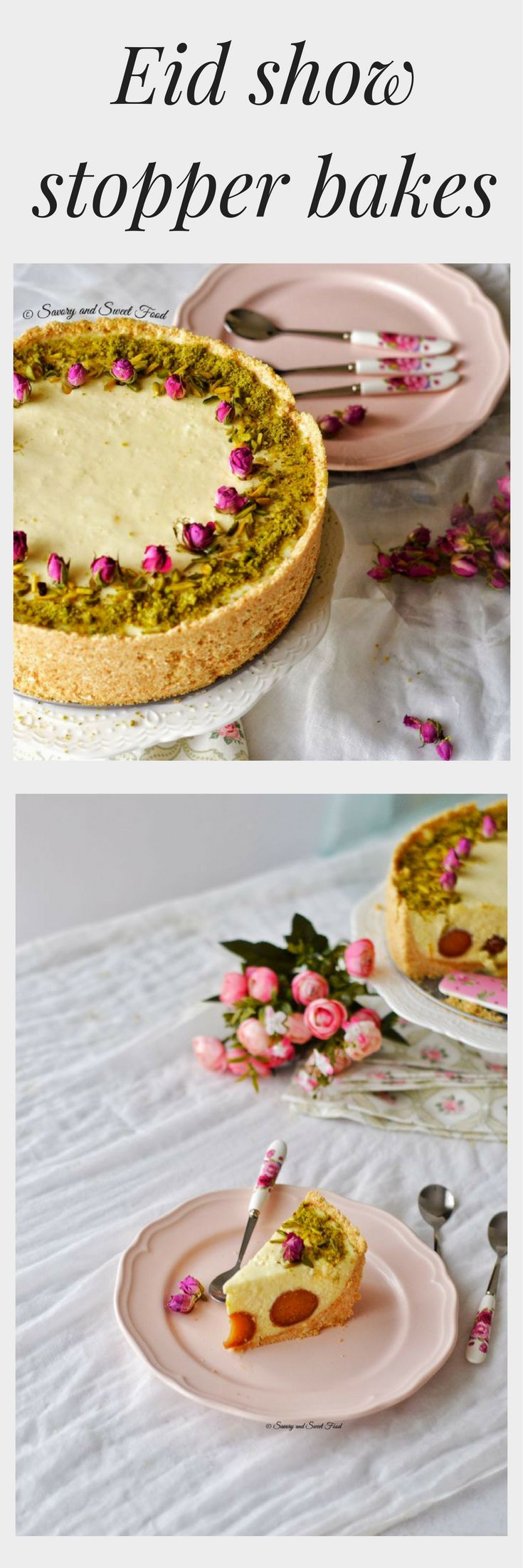 If a cheesecake wasn't enough to indulge in during your Eid celebrations we have found an amazing Ghulab Jamun filled Cheesecake. Decorate the cake with roses or crushed pistachios.