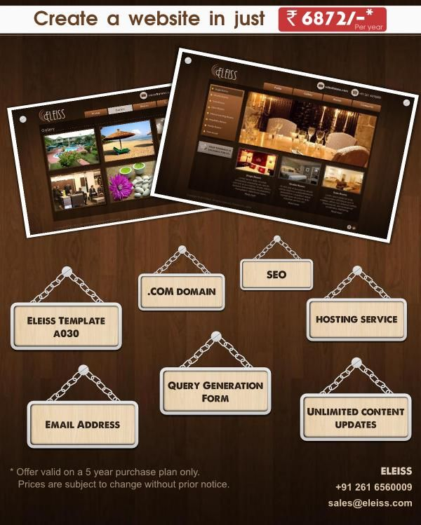 Woody brown ‪#‎website‬ ‪#‎design‬ in a rustic yet classy look. Recommended for: ‪#‎Hotel‬, ‪#‎Restaurants‬, ‪#‎Caterers‬, ‪#‎Bakery‬ and ‪#‎Confectioneries‬, ‪#‎InteriorDecorators‬ ‪#‎eleiss‬ template: a030 Contact us on +91 261 6560009 or sales@eleiss.com