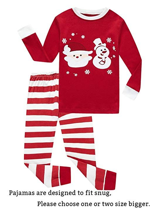 474a1ff76bae Family Feeling Little Girls Boys Long Sleeve Christmas Pajamas Sets ...