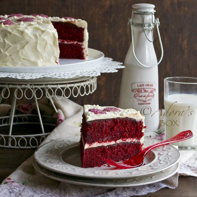 Adora's Box: THE BEST RED VELVET CAKE (Note: I substituted 2 2/3 cups of cake flour for the 2 cups of All-purpose flour