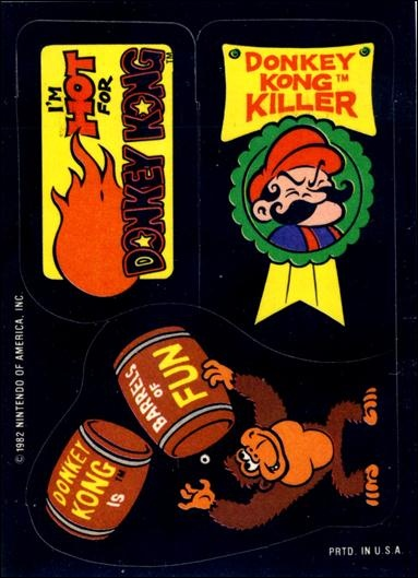 Topps donkey kong trading cards card 17 beautiful card this the