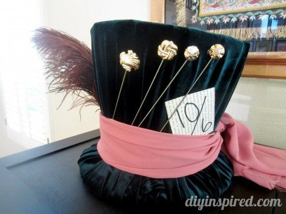 DIY Mad Hatter Top Hat - step by step photos on how to make this out of a cardboard box!!