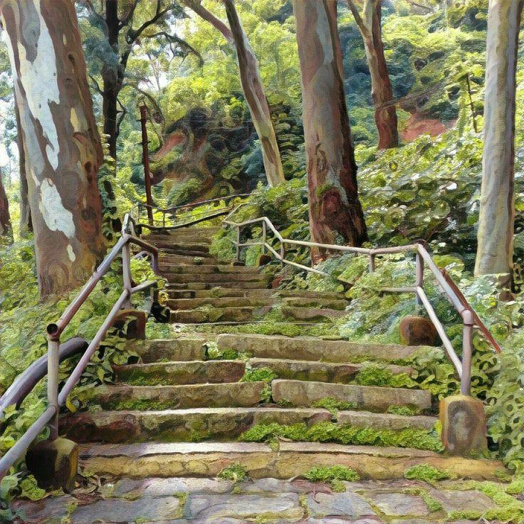 Stairway at Nandi Hills, Bangalore