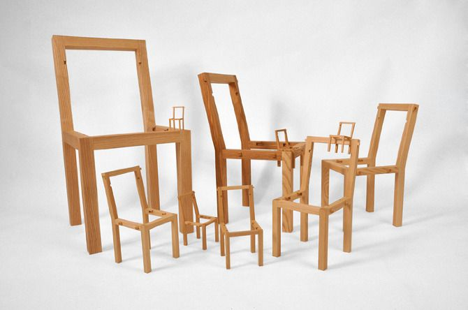 The inception chair (by Vivian Chiu) in separate parts - I wonder if this chair is as comfortable as it is cool...