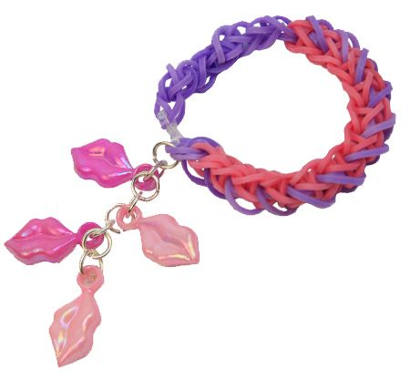 Pulsera de ligas de colores / Accesorios para niñas