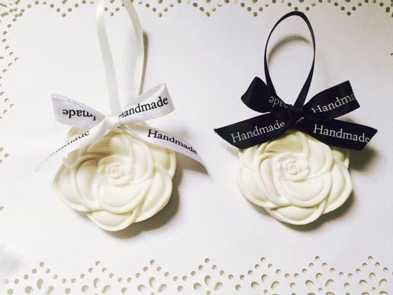 Cameillia flower handmade Air freshener plaster Tie by MINIArtLand