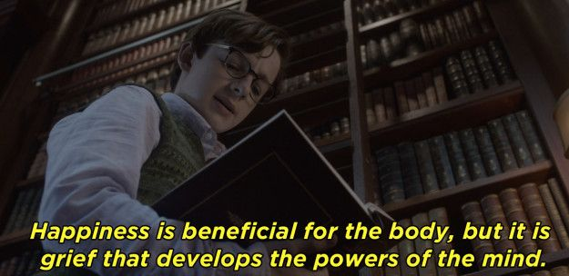 "From the first few minutes of A Series of Unfortunate Events, the Netflix show is filled with books and literary references, like when Klaus recites this Proust quote. | 23 Moments In ""A Series Of Unfortunate Events"" Every Book Lover Will Appreciate"
