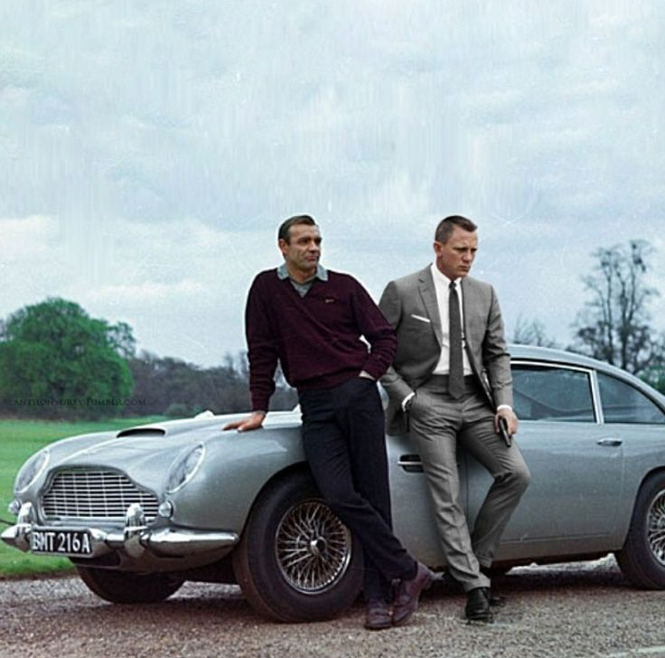 Shaun Connery and Daniel Craig photo splice.. Time warp..