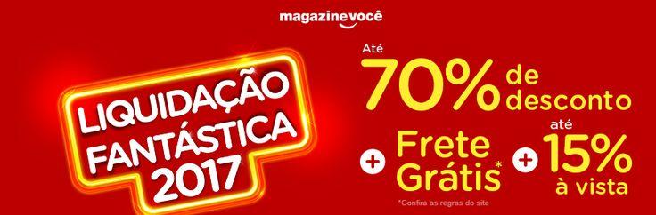 #LiquidaçãoFantástica já começou aqui é hoje hein; não perca produtos em até 70% de descontos! Clique nesta imagem e vem ser feliz!