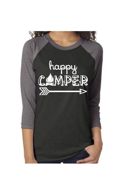 Happy camper shirt Camping shirt Happy by SillyWillysBoutique