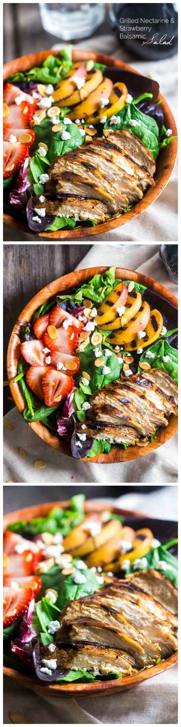 jewelry companies list Strawberry Balsamic Chicken Salad with Grilled Nectarines Fast fresh gluten free and healthy this salad is summer in a bowl