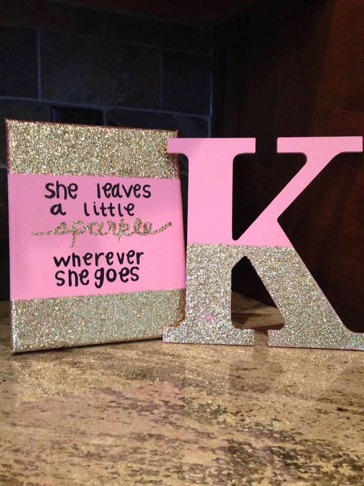 sorority canvas dorm decorations big little gift she leaves a little sparkle wherever she goes quote