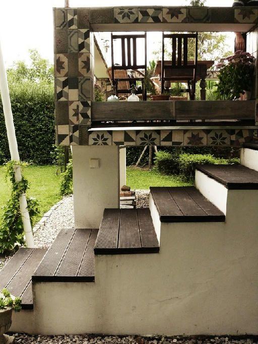 cement tile frame