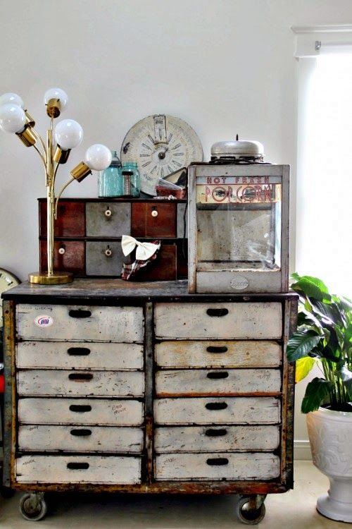 A Flea Market Home with Industrial Touches