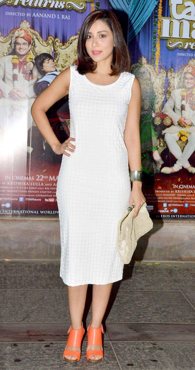 Amrita Puri at the 'Tanu Weds Manu Returns' success bash. #Bollywood #Fashion #Style #Beauty