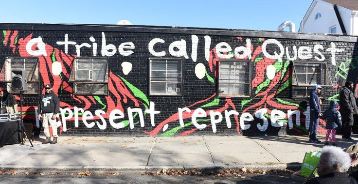 Fellow Tribe Called Quest rapper Jarobi White noted that it is meaningful to have a mural for the group on the street they used to walk down everyday.