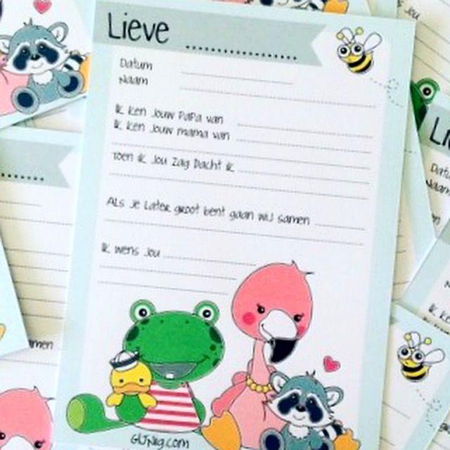 Kraamvisite invulkaarten van GIJNig.com #baby #kraamcadeautje #9maandenmand #zwanger #babyshower #flamingo #kikker