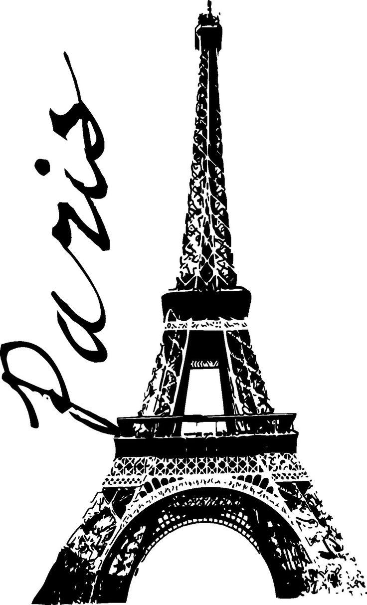 Custom Paris, Eiffel Tower Vinyl Wall Decal - 6 ft. tall. $64.95, via Etsy.