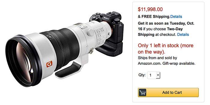Sony Fe 400mm F2 8 Gm Oss Lens In Stock Shipping Sony Fe 400mm F2 8 Gm Oss Lens In Stock Shipping Good News The Newly Announceds Lens Prime Lens Sony