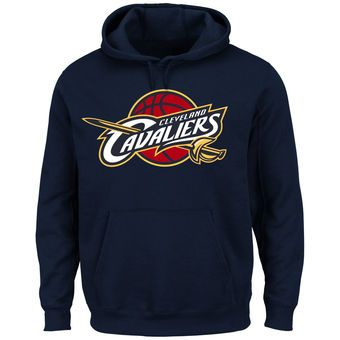 Majestic Cleveland Cavaliers Navy Current Logo Tech Patch Pullover Hoodie