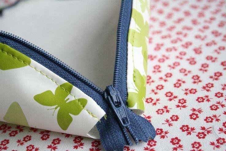 Cosmetic Zipper Bag. Dumpling Zipper Pouch Tutorial DIY