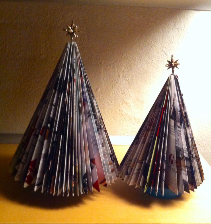 Julepynt af kataloger.