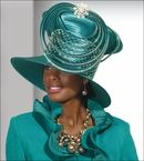 Rich and Elegant Purple Ladies Special Occasion Hat by Donna Vinci H2145