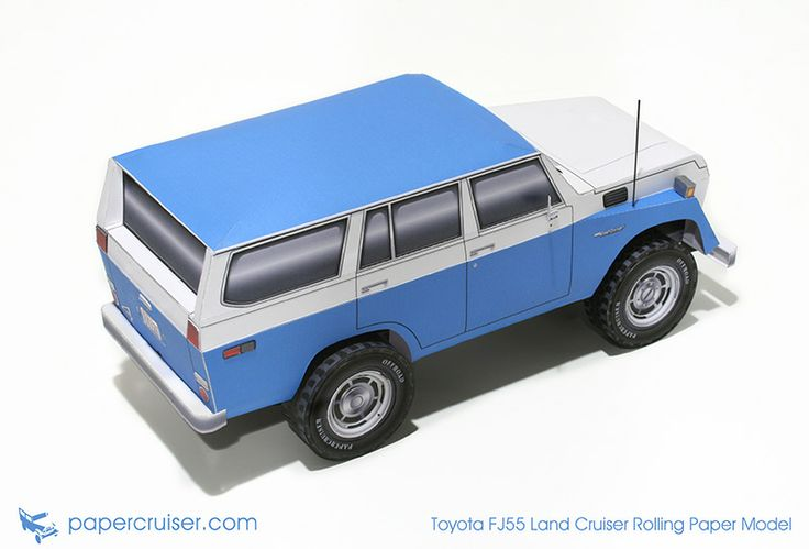 Toyota FJ55 Land Cruiser rolling paper model | http://papercruiser.com/downloads/fj55-land-cruiser-rolling-model/
