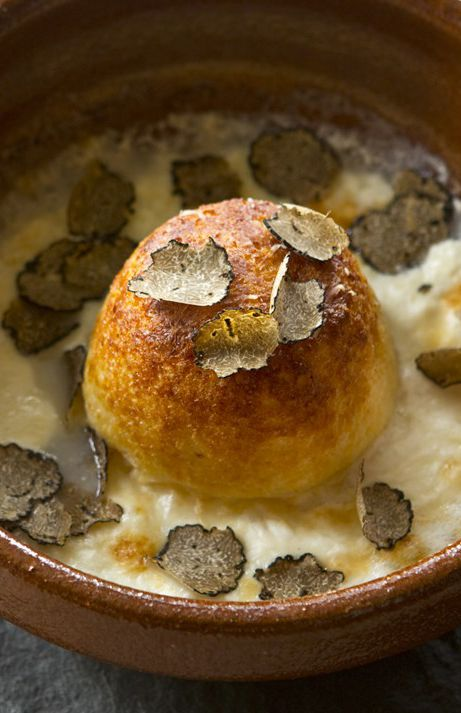 The ultimate indulgence, this double-baked soufflé recipe from Pascal Aussignac is rich, creamy and full of flavour. Nutty Parmesan cheese is paired to perfection with softened leeks, cream and a final flourish of shaved black truffle.