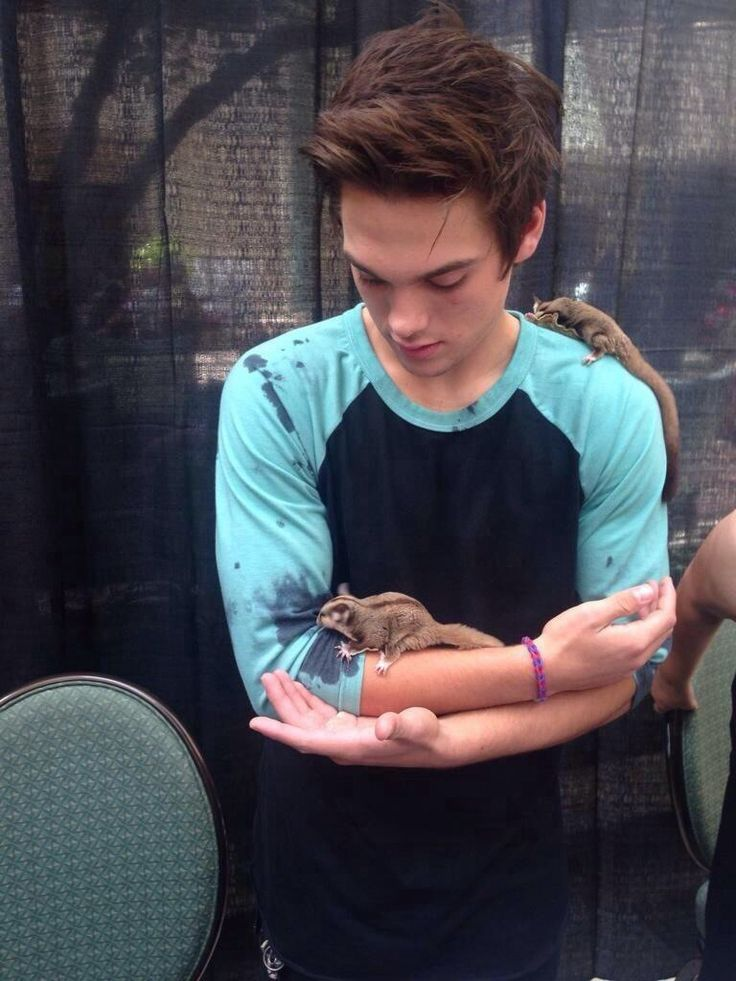Dylan Sprayberry | He is so cute | Look at the chipmuncks | i can't tell which are cuter...lol | jk its dylan|...those are sugar gliders. Not chipmunks.|